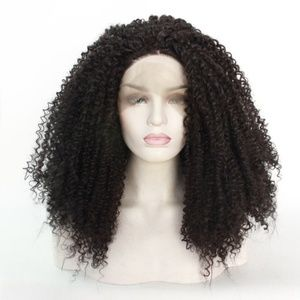 Natural Color Afro Kinky Curly Lace Front Wigs